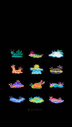 Seaslug iPhone wallpapers by pikaole