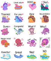 Soft mollusk sticker pack by pikaole