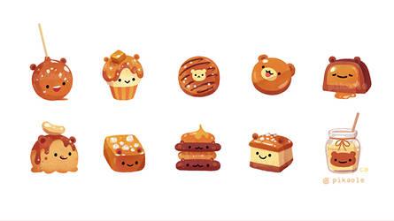 Salted caramel bear by pikaole