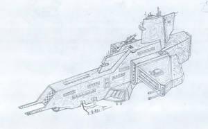 Phalanx Class Destroyer by rafenrazer
