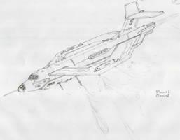 Akula-232 G IV gunship by rafenrazer
