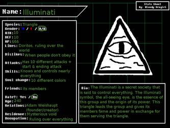 Undertale Character Stats Card: Illuminati by PetStarPlanet