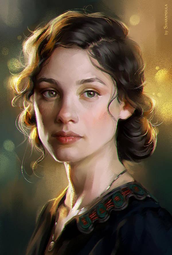 Astrid Berges-Frisbey (study) by sharandula