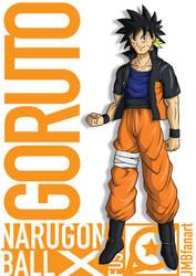 Goruto (Goku and Naruto fusion) by JMBfanart