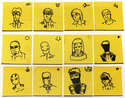 Post-it Character Sheets by willmeister42
