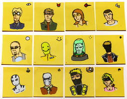 Post-it Characters in Colour by willmeister42