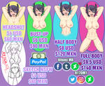 Commission INFO SHEET by HitomiMB