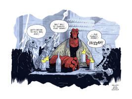 20 years of Hellboy by Andrew-Ross-MacLean