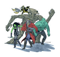 Guardians of the Galaxy by Andrew-Ross-MacLean