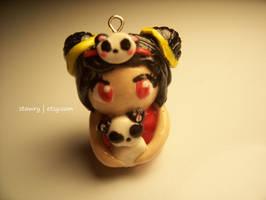 Panda Annie Poylmer Clay Charm by Stawry