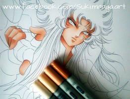 Shion from Aries, work in progress by Suki-Manga