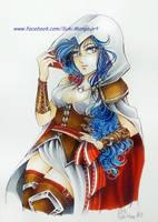 Assassin's Creed girl manga version, commission by Suki-Manga