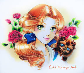 Beauty and her cutie Beast by Suki-Manga