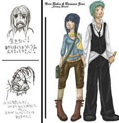 Nico Robin and Roronoa Zoro by influences