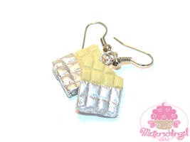 White Chocolate Bar Earrings by Metterschlingel