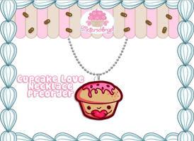 Cute Cupcake Necklace PREORDER by Metterschlingel