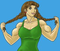 Sarah with braids by tj-caris