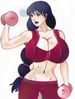 Scarlet workout by tj-caris