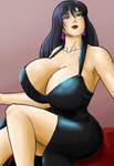 Scarlet black dress by tj-caris