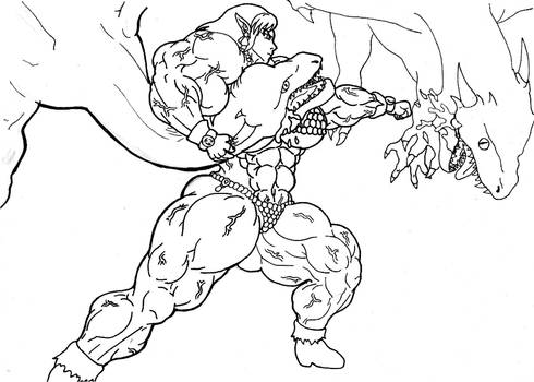 Dragon Punching by tj-caris