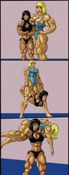 Wrestling Match by tj-caris