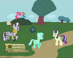 Just another day in Ponyville... by Streifi