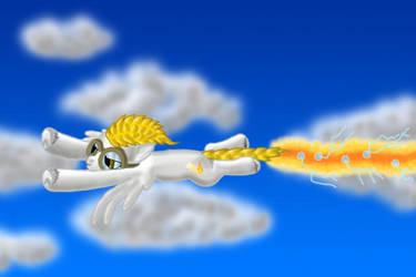 Fast as a burning lightning by Streifi