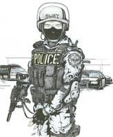 SWAT Police Officer - Original by angelfire7508