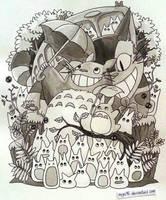 Totoro Doodle by miyu96