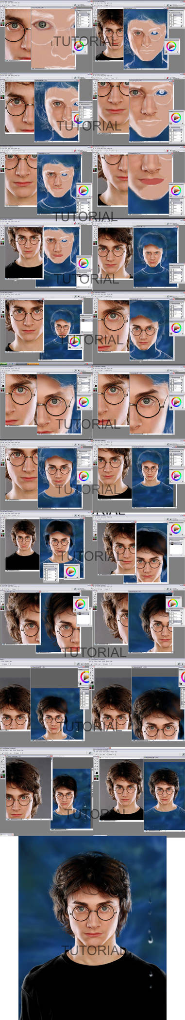 Painter Portrait Tutorial by shley77