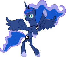 Princess Luna - What? No feast, you say? by Powerpuncher