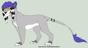 Kaina with Mwokozi's Line art by Kainaa