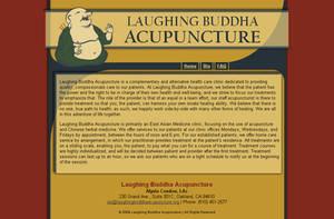 Laughing Buddha Acupuncture web design by Aurhia