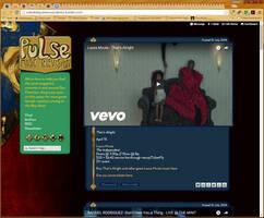 tumblr theme for pulse music by Aurhia