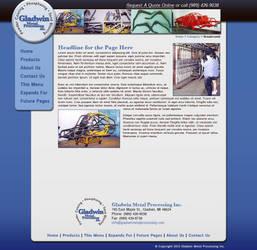 Gladwin site and logo design by Aurhia
