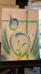 oil pastel, work in progress by Aurhia
