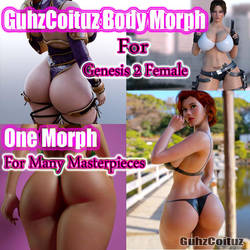 GuhzCoituz Body Morphs For Genesis 2 Female by guhzcoituz