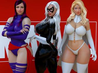 Marvel Girls by guhzcoituz