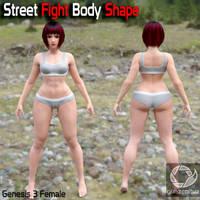 Street Fight Body Shape for G3F by guhzcoituz