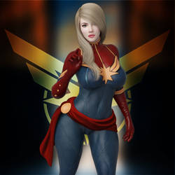 Captain Marvel by guhzcoituz