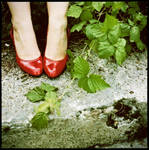 red shoes by quadratiges