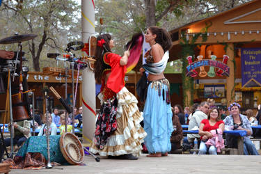 Renaissance Festival Gypsy Fan by theoracleofdreams
