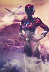 Pink Ranger Custom Poster by HZ-Designs