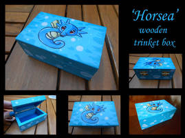 ~FOR SALE~ Horsea wooden box by stephanie1600