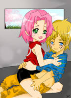 NaruSaku- They've Caught Us by QueenGiggles
