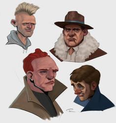 Four Faces by ThijsRozema