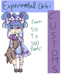 open 50 to 300 pts experimental chibi customs by wetpantsu