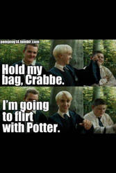flirting with Draco by Fnaf111