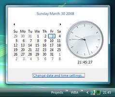 Vista Rainmeter Clock preview by fediaFedia