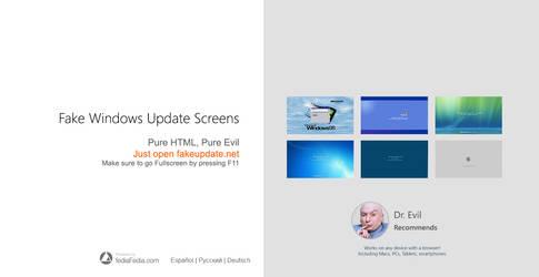 [prank] NEW fakeupate.net Windows Update Screens by fediaFedia
